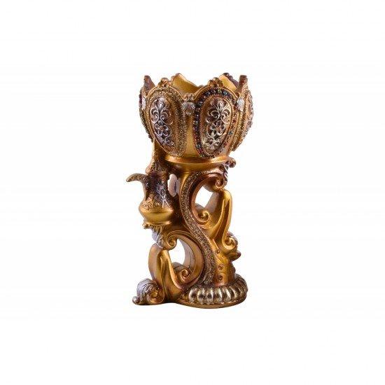 Antique handmade resin incense burner bakhoor burner with lidornament home décor