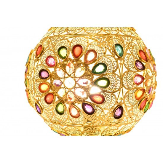 Colorful Jewelry Moroccan Lantern Home Decoration