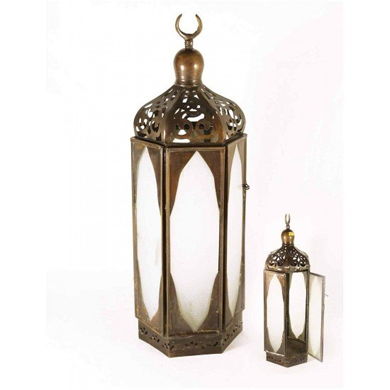 Copper Hexagonal Arabic Lantern Home Decoration