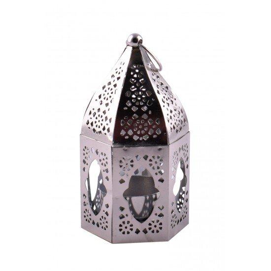 Hexagon Mini Hanging Tea Light Votive Lantern