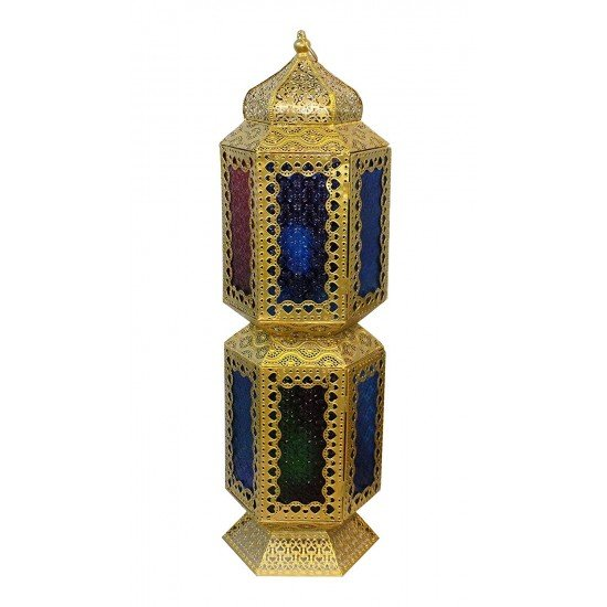 Multi-color Glass Electric Lantern Home Decoration