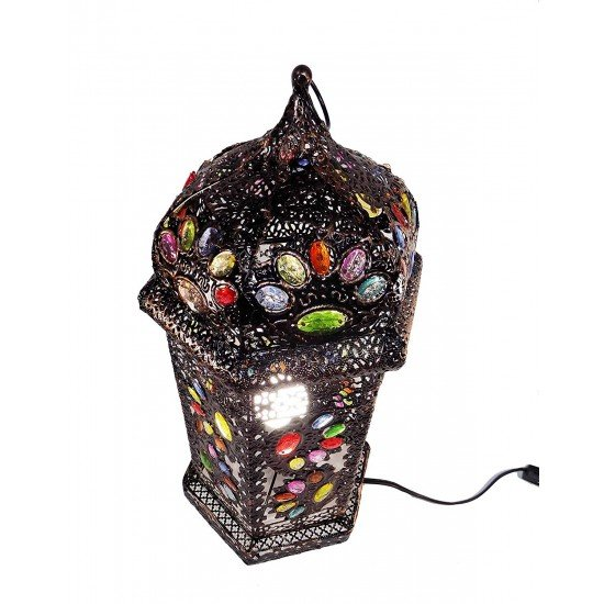 Vintage Moroccan Jewelry Electric Lantern