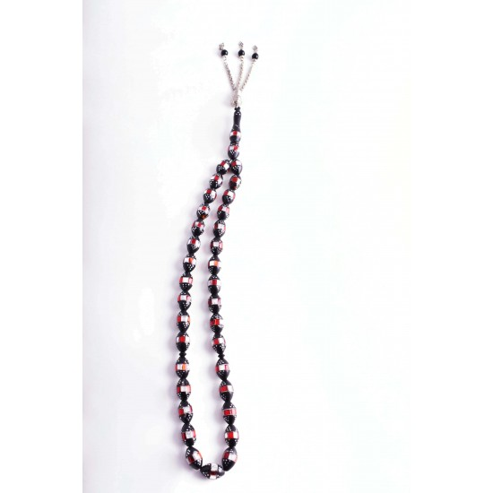 Beads Misbaha Rosary 33 Beads With Tassels - Wooden