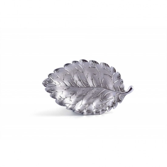 Leaf-shaped plate jewelry storage tray dessert snack plate decorative ornaments Cigarette Ashtray Jewelry Ring Tray Holder Silver/ Gold