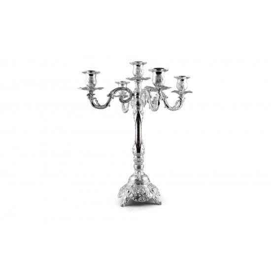 Luxury Silver Plated Candle Holders Antique 5 Arms Candelabra Decorative Wedding Party