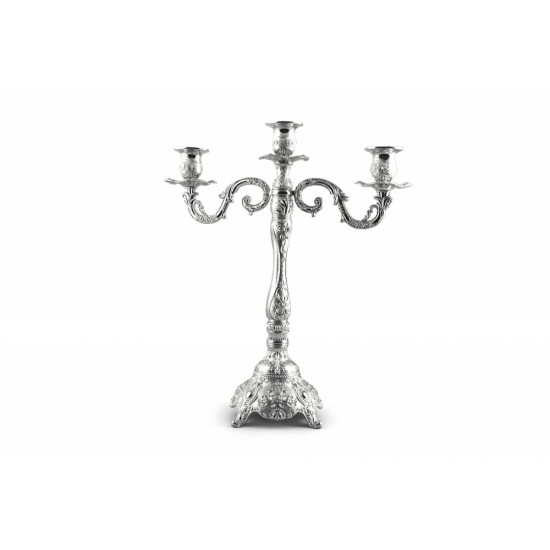 Luxury Gold/ Silver Plated Candle Holders Antique 3 Arms Candelabra Decorative Wedding Party