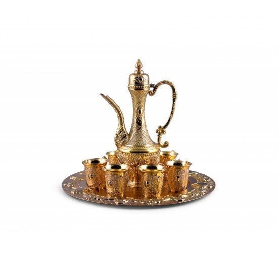 Luxury Turkish Coffee Set for 6 including serving tray and coffee pot