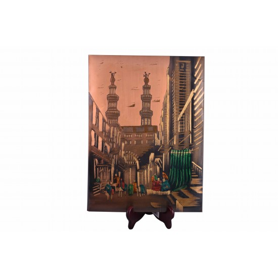 Vintage Old Arabic Bazaar Painting Home Decor