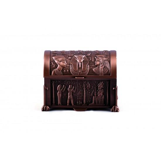 Egyptian Vintage Copper Jewelry Box Pharaohs Trinket Box/Gift Box Black Velvet Lining
