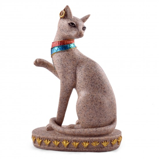 Polyresin Ancient Egyptian Cat Statue- Goddess Bastet Figurine For Home/ Garden decoration- Novelty household crafts