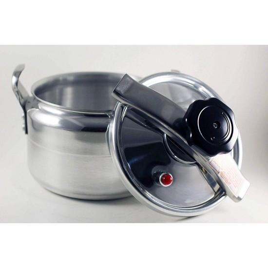 Aluminum Explosion-Proof Pressure Cooker- 7L~15L Capacity- Silver