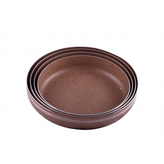 Ceramic Non-Stick Round Roast Grill Baking Pan Set of 4