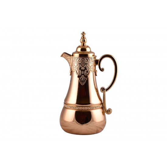 1L Golden Stainless Steel Arabic Style Vacuum Coffee Flask Thermos Kettle