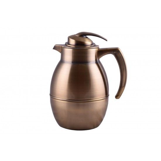 1L Vintage Bronze Stainless Steel Vacuum Coffee/ Tea Flask Thermos Kettle