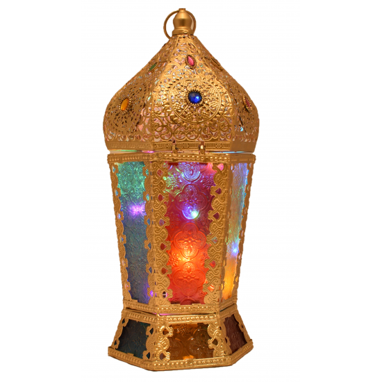 Moroccan Jewelry Metal Lantern Home Decoration Medium