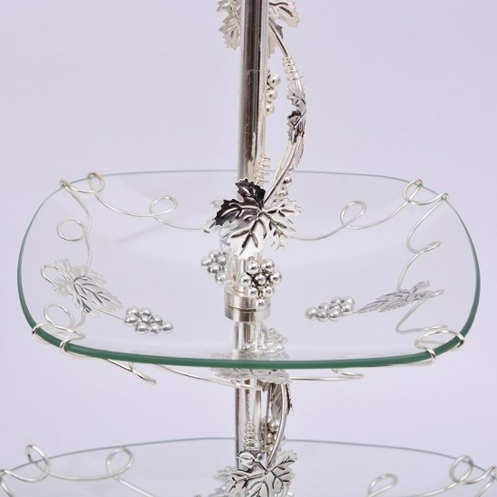 2 Tier Cake/ Cupcake Stand Decorating Serving Tray