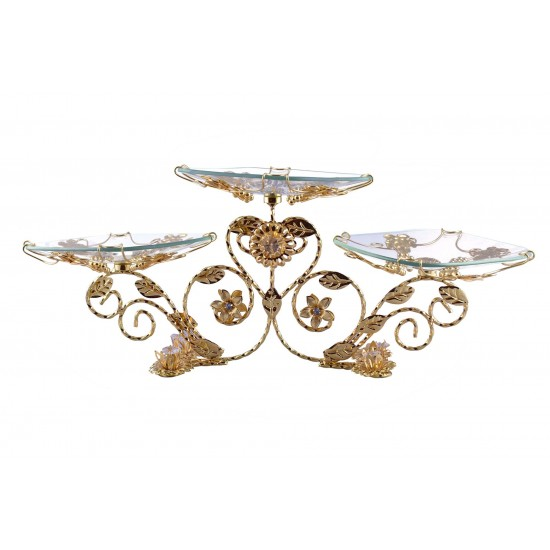 3 Tier Flower Design Serving Platter for Birthday/Party/Wedding