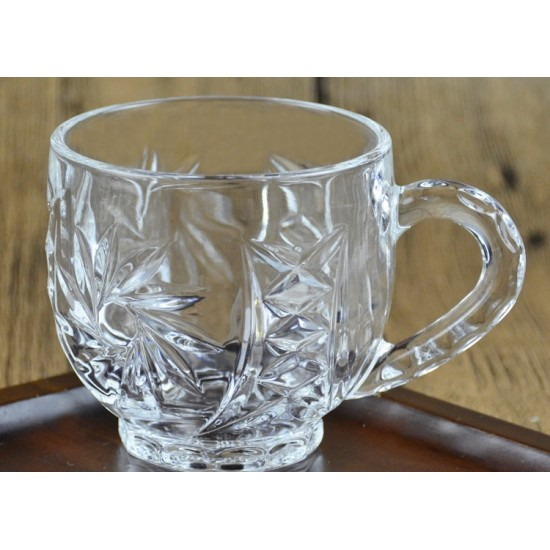 6 Pcs Arabic Tea Coffee Cup Set Glass Tea Cup without Saucer