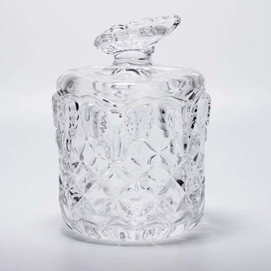 Butterfly Crystal Sugar Bowl Candy Jar
