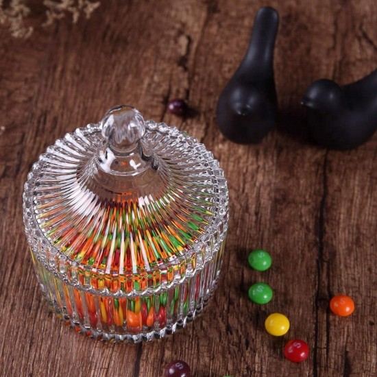 Dome Shape Glass Sugar Bowl