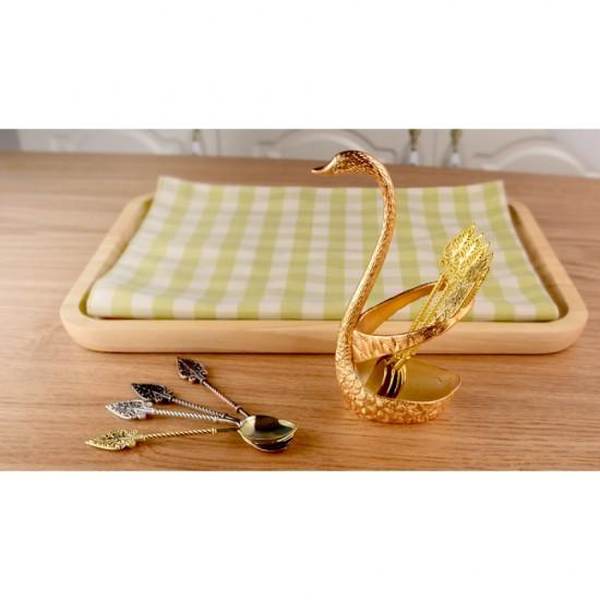 Swan Seat Base Stainless Steel Tableware- Creative western Elegant fork/spoon holder- Cygnus