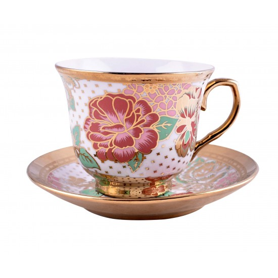 Vintage Flower Pattern Coffee/ Tea Set of 12 pcs